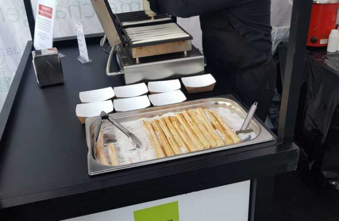 churros cart hire catering