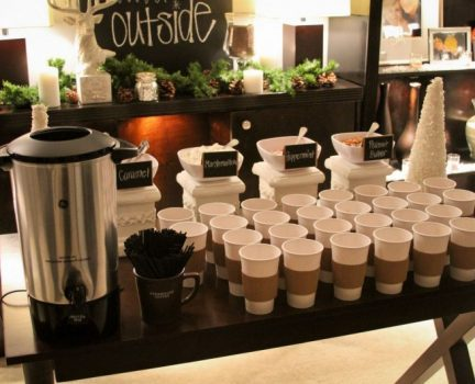 hot chocolate bar for residents event