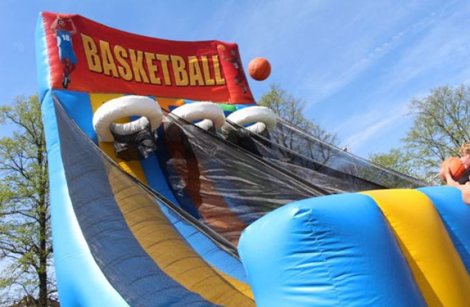 inflatable basketball game for hire